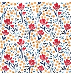 Seamless pattern with red and yellow vector image vector image
