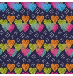 Abstract multicolored hearts vector image