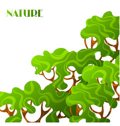 Background with abstract stylized trees natural vector