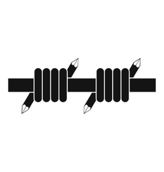 Barbed wire icon simple style vector image vector image