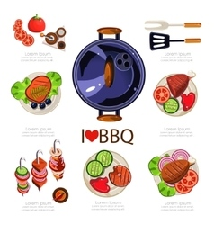 BBQ Infographics vector image vector image