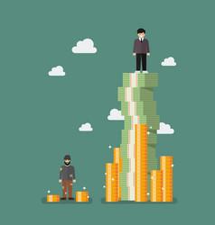 Gap between rich and poor vector