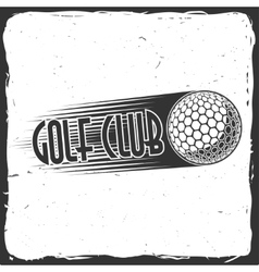 Golf club concept with ball silhouette vector image
