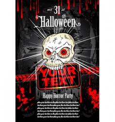 Halloween grunge flyer vector