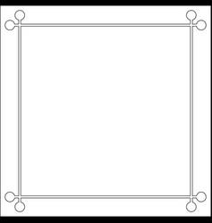 mid century 50s frame photo border vector image vector image