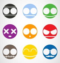 Set of Emoticons vector image vector image