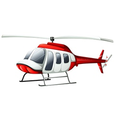 A helicopter flying vector image