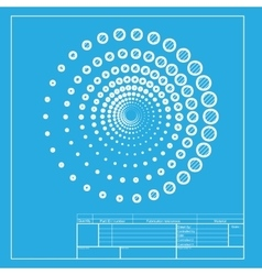 Abstract technology circles sign White section of vector image