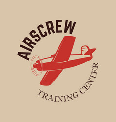aviation training center emblem template vector image
