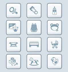 Baby objects icons - TECH series vector image