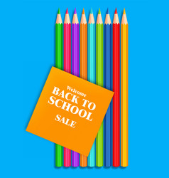 back to school colorful crayons realistic vector image