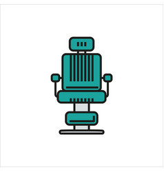 barber chair simple icon on white background vector image