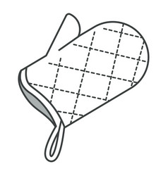 Bbq and kitchen glove home textile or cotton vector