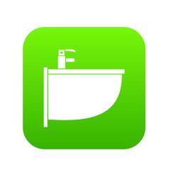 bidet icon digital green vector image