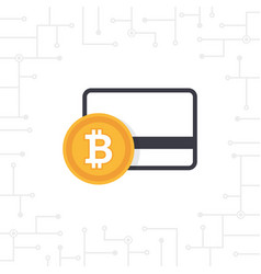 bitcoin payment in flat design vector image