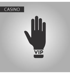 Black and white style hand VIP vector