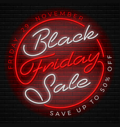 black friday sale advertising design vector image