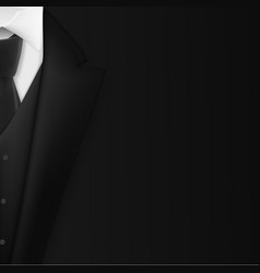 black suit realistic mens tuxedo suit succeed vector image vector image