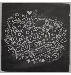 Brazil 2014 On Chalkboard vector