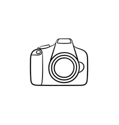 camera hand drawn outline doodle icon vector image