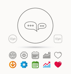 Chat icon comment message sign vector
