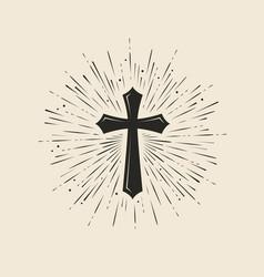Christianity symbol jesus christ cross vector
