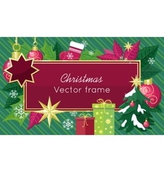 Christmas Sale Frame Flat Style Concept vector image