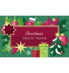 Christmas Sale Frame Flat Style Concept vector