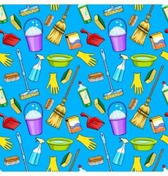 Cleaning supplies cartoon set vector