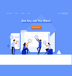 concept human resources recruitment for web page vector image