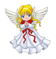 Cute cartoon of an angel vector