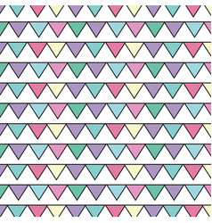 Cute party flag decoration design background vector