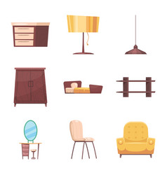 design of furniture and apartment symbol vector image