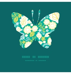 Emerald flowerals butterfly silhouette vector