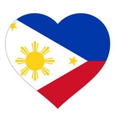Flag in heart sign in shape heart vector
