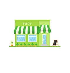 flat icon shop market store or cafe vector image