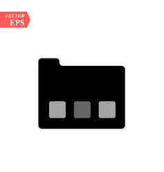 folder icon in trendy flat style isolated on grey vector image