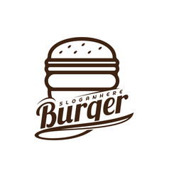 food burger logo burger emblem design food logo vector image