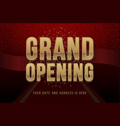 Grand opening invitation concept luxury design vector