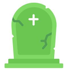 Grave flat vector