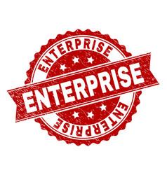 Grunge textured enterprise stamp seal vector