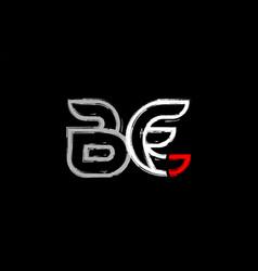 grunge white red black alphabet letter be b e vector image