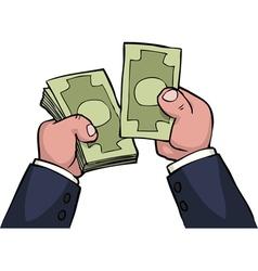 hand count money vector image