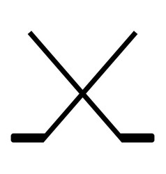 hockey stick icon vector image