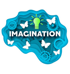imagination concept in layered vector image