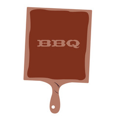 isolated barbecue table vector image