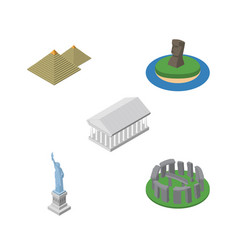 Isometric attraction set of england new york vector