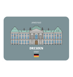 japanese palace in dresden germany vector image