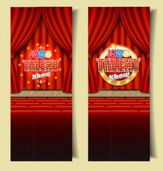 Kids tv talent show banner template set vector