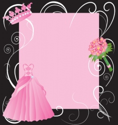 la quinceanera invitation vector image